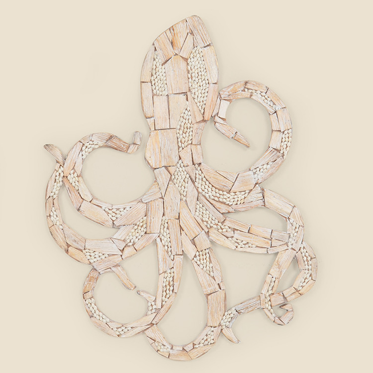17-023 Wooden Octopus Wall Hanging
