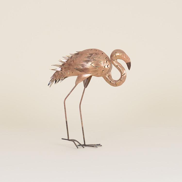 17-008 Pink Metal Flamingo