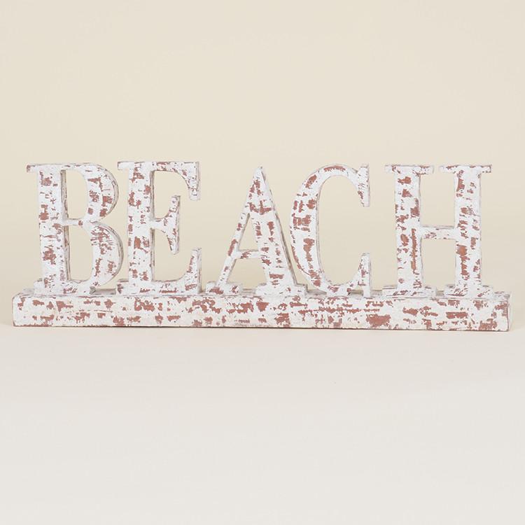 17-040 Distressed 'BEACH' Sign