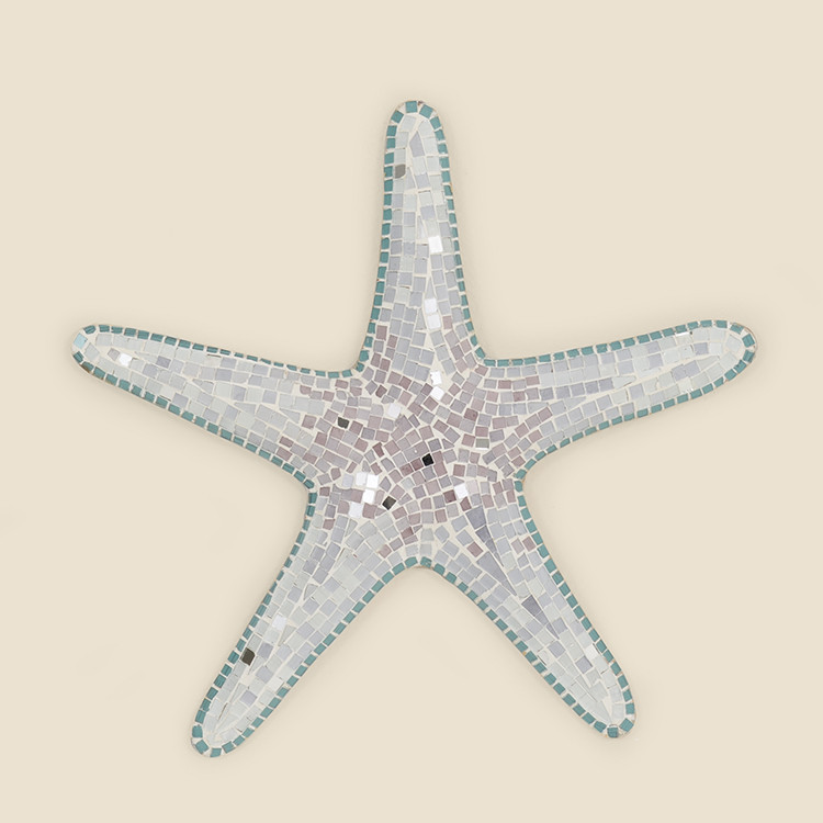 17-066,LG Large Mosaic Starfish Wall Hanging