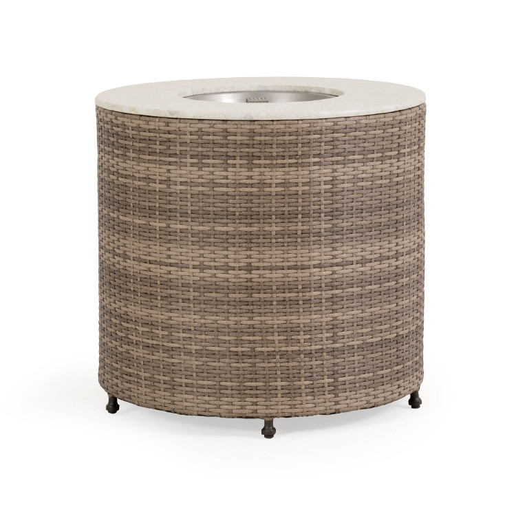 """FP62-27RD 27"""" Round Stone Top Fire Pit"""
