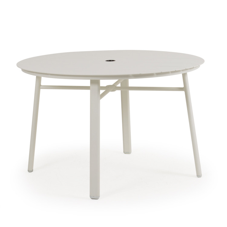 "031850 48"" Round Dining Base with Aluminum Slat Top"