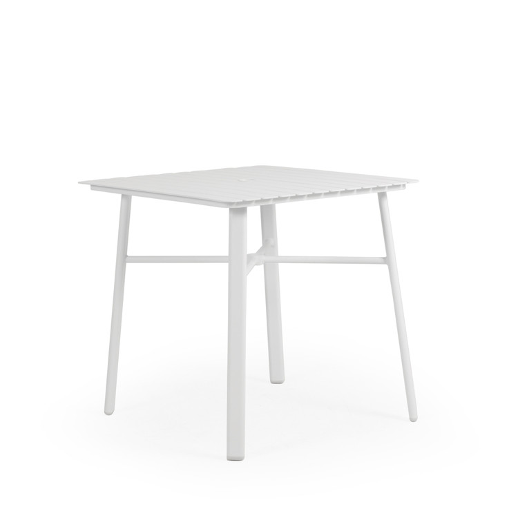 "031853 36"" Square Bar Table with Aluminum Slat Top"