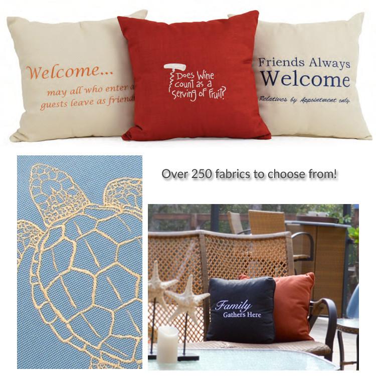 Embroidered Toss Pillows