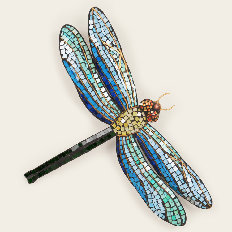 11-008  Metal Mosaic Dragonfly