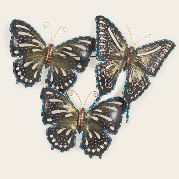 16-010 Metal Butterfly Wall Hanging