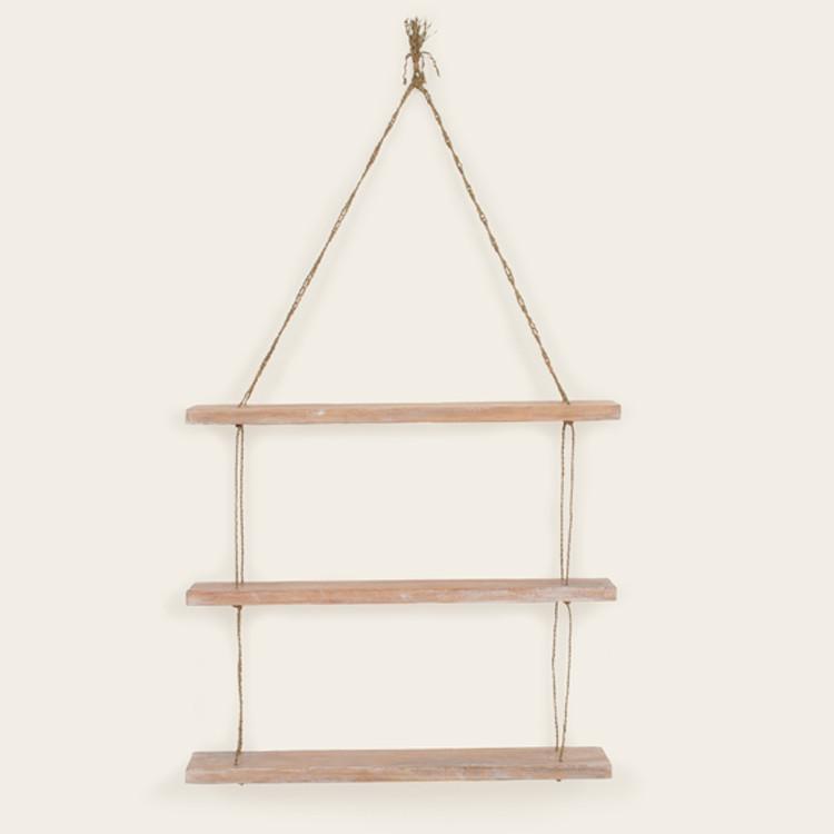16-034 3-Tier Wooden Rope Shelf