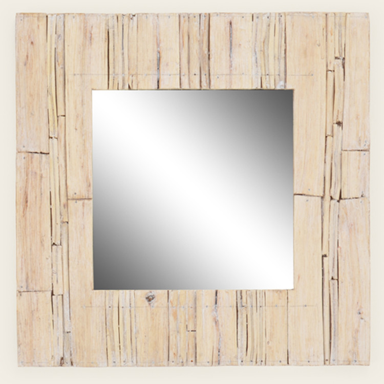 16-090 Natural Wood Trimmed Mirror