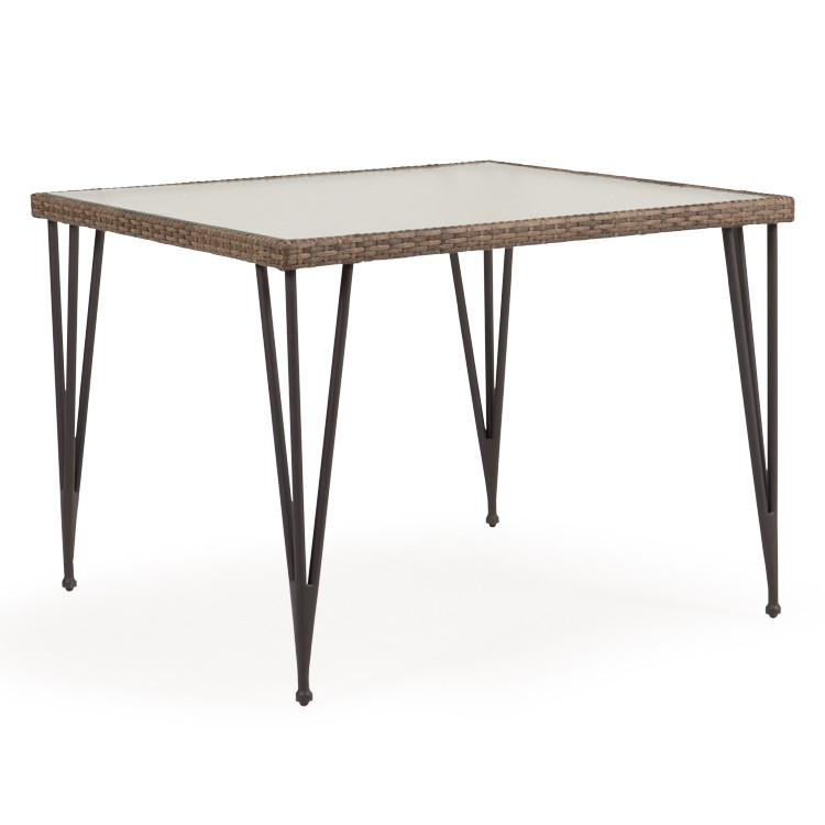 "621839DT 39.5"" Square Dining Table with Glass Top"