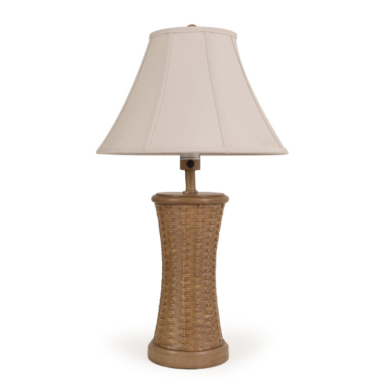OUT-441TL,NTM/WTK Rattan w/Wood Table Lamp