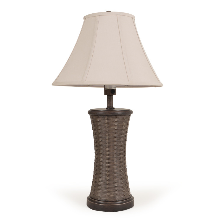OUT-441TL,PPC/VWN Rattan w/Wood Table Lamp