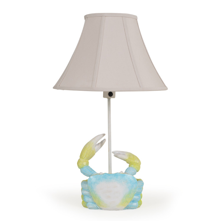 OUT-761TL Blue Crab Table Lamp