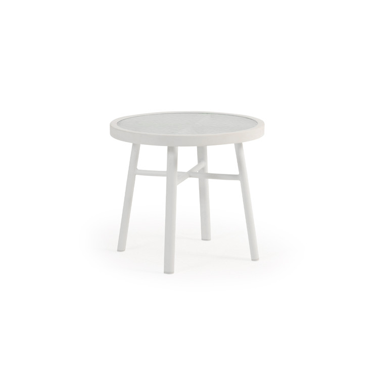 "031820 20"" Round Tea Table with Glass Top"