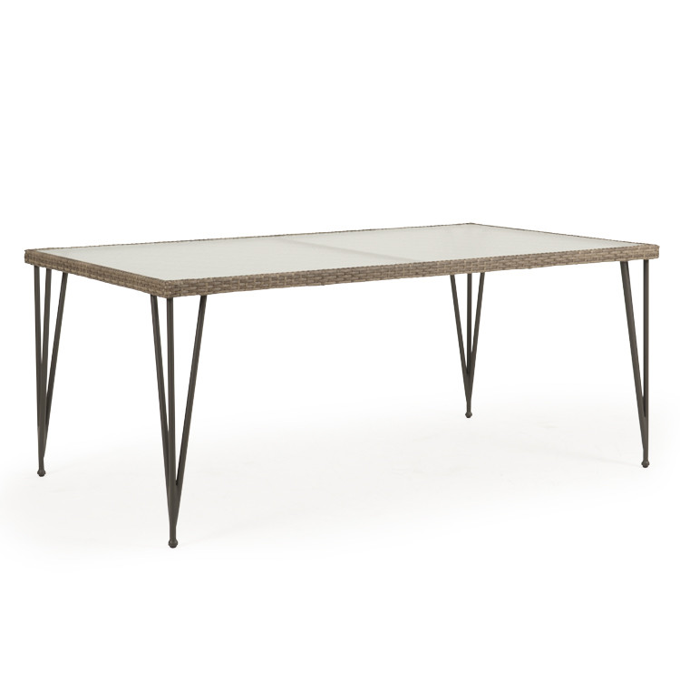 "62183968DT 39.5""x68"" Rectangle Dining Table with Glass Top"