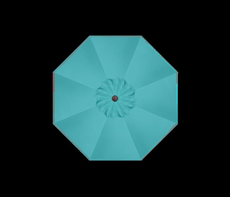 Aqua Polyester - Bronze Pole