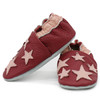 Carozoo Soft Sole Leather Shoes Five Star Dark Red
