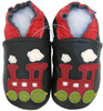 Train Black C1 outdoor shoes up to 4 Years Rubber Sole Genuine Leather Baby Toddlers Kids