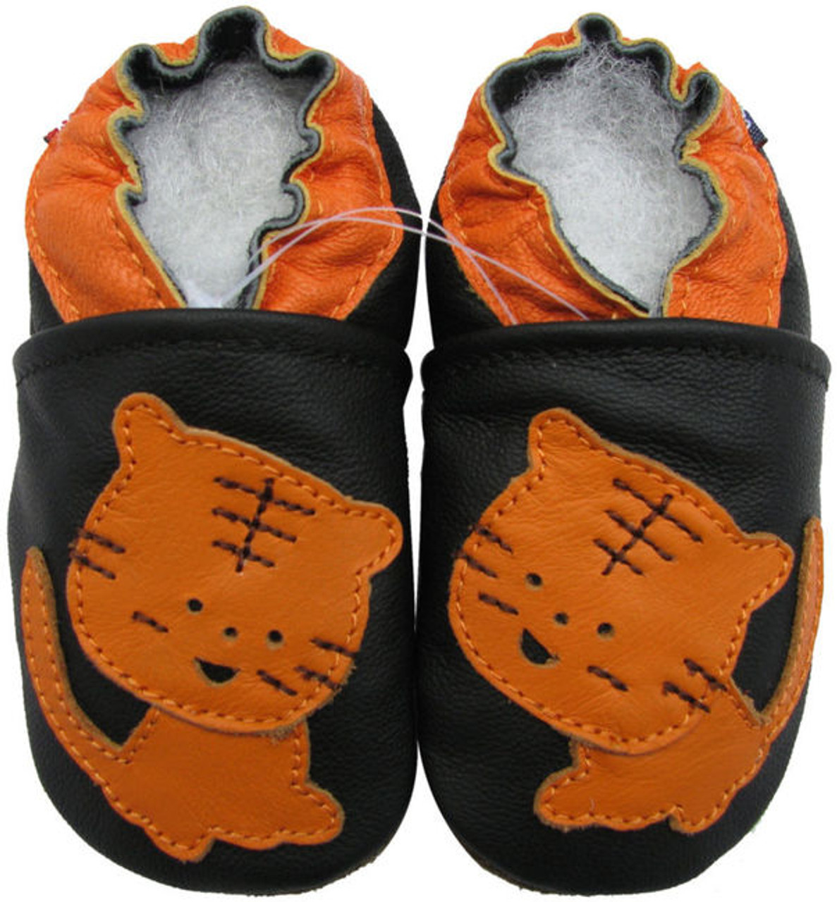 Carozoo Baby boy Soft Sole Leather Infant Toddler Kids Shoes Sandals Black