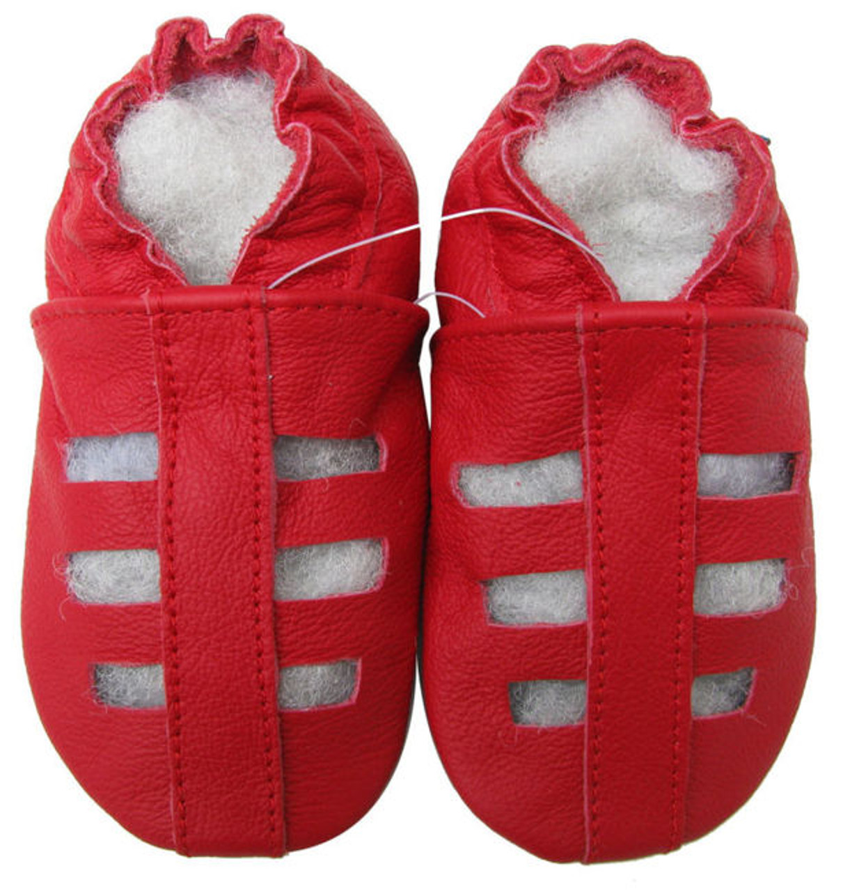 74f6281d30b3f carozoo sandals red 12-18m soft sole leather baby shoes