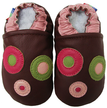 Circle Purple Outdoor up to 4 Years Rubber sole Genuine leather Baby Kids Toddlers