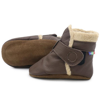 Booties Dark Brown up to 4 Years Old