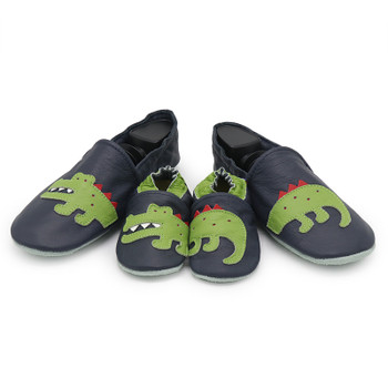 Crocodile Dark Blue Parent Child Matching shoes/slippers