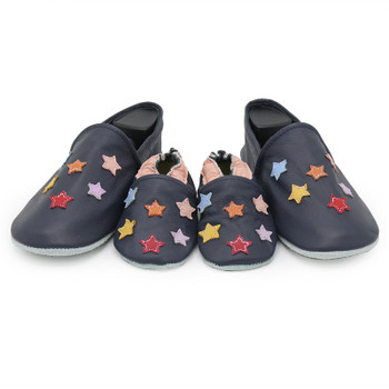 Colorful Star Dark Blue Parent Child Matching shoes/slippers