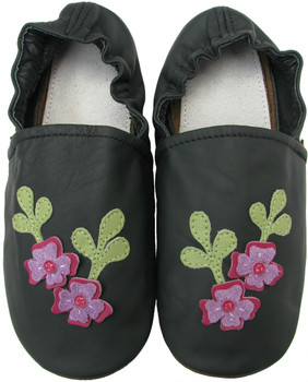 Flower black Women Slippers