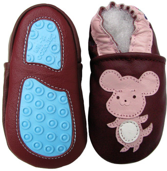 mouse cat purple Outdoor up to 4 Years Rubber sole Genuine leather Baby Kids Toddlers