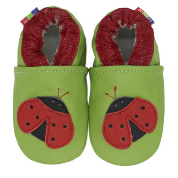 ladybug green outdoor up to 4 Years Rubber sole Genuine leather Baby Kids Toddlers