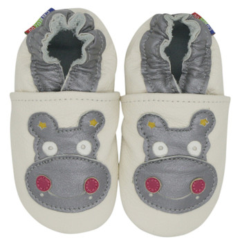 hippo cream outdoor up to 4 Years Rubber sole Genuine leather Baby Kids Toddlers