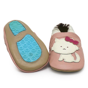 Cat Pink outdoor up to 4 Years Rubber sole Genuine leather Baby Kids Toddlers