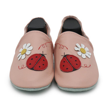 ladybug flower pink  Women Slippers