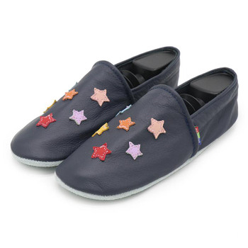 Colorful star dark blue  Women Slippers