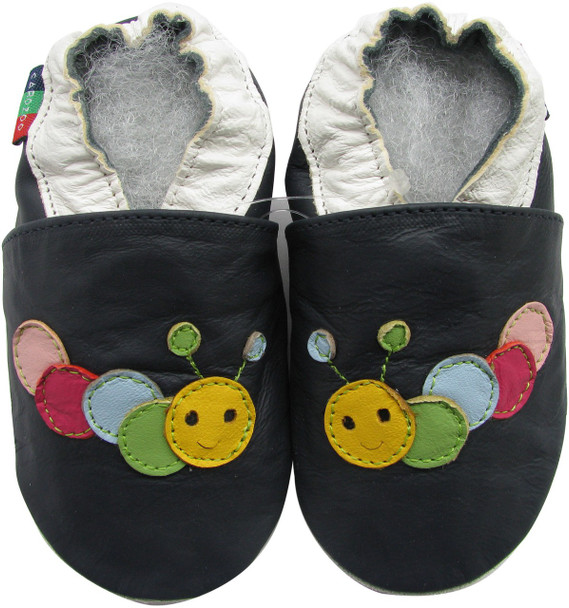 shoeszoo caterpillar dark blue 12-18m S soft leather baby shoes