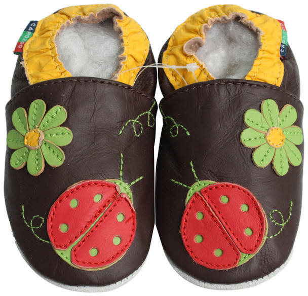 Green Flower Ladybug Brown S up to 4 Years Old