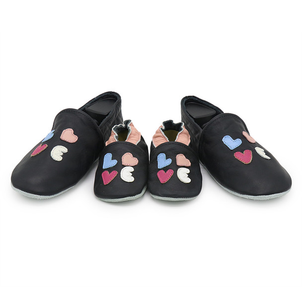 Love Black Parent Child Matching shoes/slippers