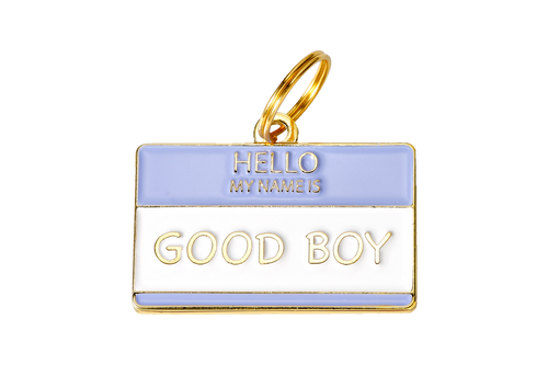 Hello My Name Is  Good Boy/Girl Pet ID Tag
