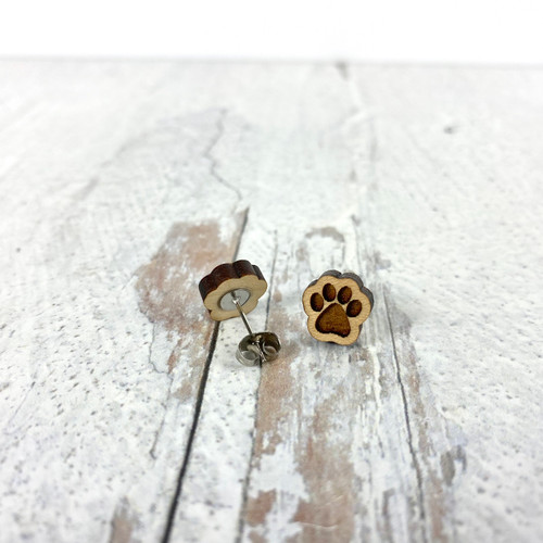 Pawprint Stud Earrings