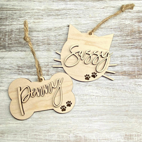Pet Name Ornaments