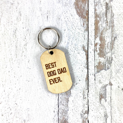 Best Dog Dad Ever Keychain