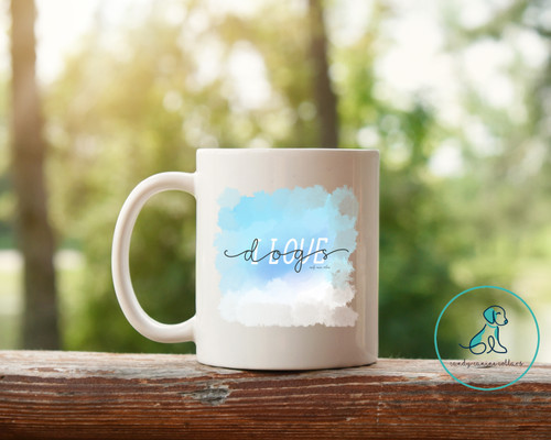 I Love Dogs Watercolor Mug