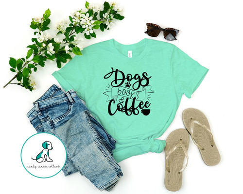 Dogs Books Coffee Tee