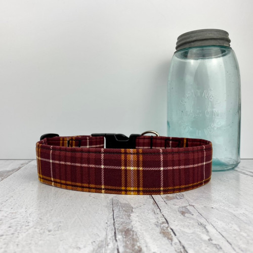 Cameron Plaid Dog Collar