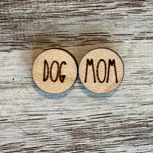 Dog Mom Stud Earrings