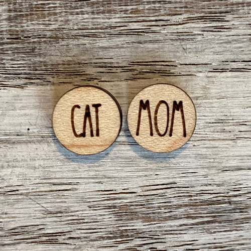 Cat Mom Stud Earrings