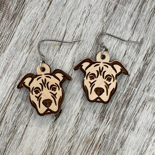 Pit Bull  Drop Earrings
