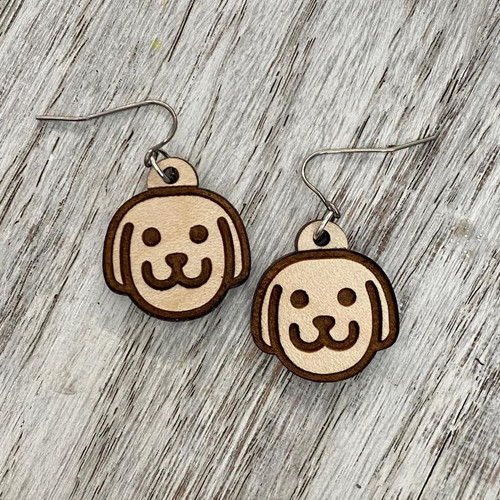 Dog Face Drop Earrings