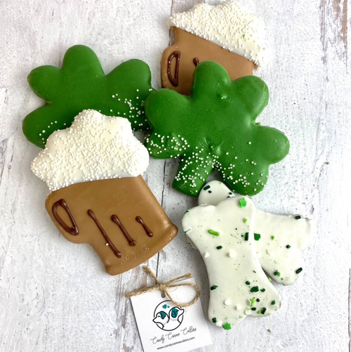Decorated St Patrick's Dog Treats