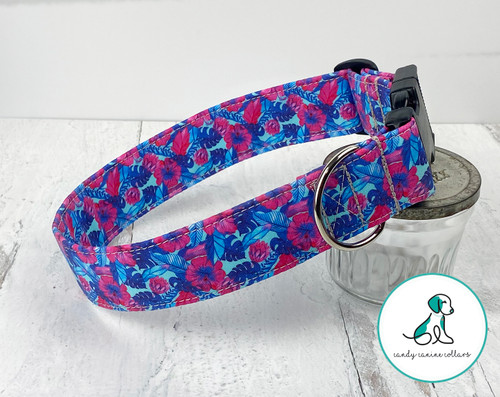 Neon Floral Dog Collar